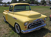 Front view of a 1957 Task Force pickup