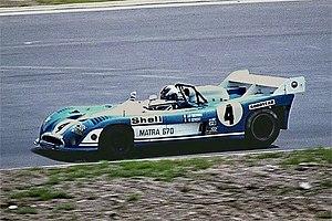 François Cevert driving the Matra 670 sports prototype in the 1973 1000 km Nürburgring race.