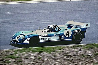 Equipe Matra Sports - François Cevert driving the Matra 670 Group 5 Sports Car in the 1973 1000 km Nürburgring race.