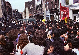 History of Bangladeshis in the United Kingdom - A demonstration against the National Front members in Brick Lane, during June 1978