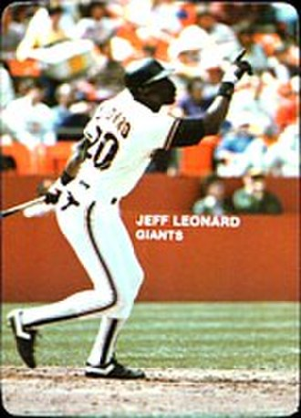 1985 San Francisco Giants season - Image: 1985 Mother's Cookies Jeff Leonard