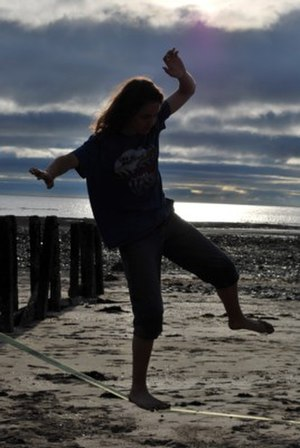 Slacklining - Slacklining on a beach