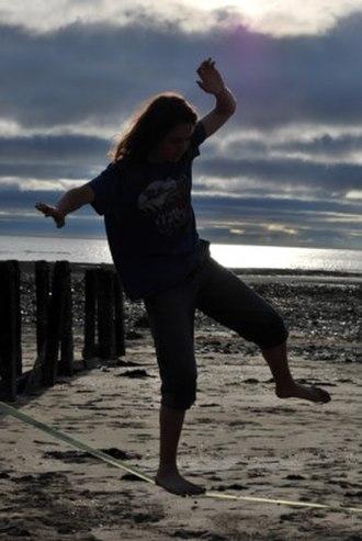 Slacklining - Slacklining on a beach