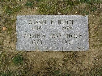 Al Hodge - The grave of Al Hodge in Kensico Cemetery