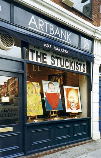 Remodernism - Show, The Stuckists: The First Remodernist Art Group, to launch the book of the same name. London EC1, March 2001.
