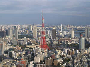 Tokyo Tower in the skyline