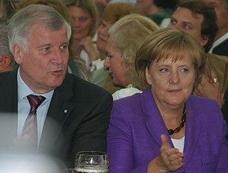 Horst Seehofer - Seehofer with Angela Merkel, 2008