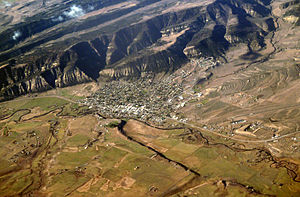 Meeker, Colorado - Aerial view of Meeker