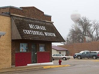 Belgrade, Minnesota - Belgrade Centennial Museum and city water tower