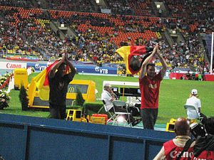 2013 World Championships in Athletics – Men's pole vault - Image: 2013 World Championships in Athletics (August, 12) Raphael Holzdeppe and Björn Otto
