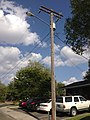 2014-09-22 15 16 09 Utility pole and street light on Southside Drive in Elko, Nevada.JPG