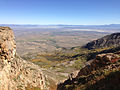 2014-09-24 14 34 07 View east across Lizzie's Basin and Clover Valley from the chute on the east side of Hole-in-the-Mountain Peak, Nevada.JPG