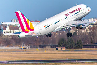 Jet engine - Jet engine airflow during take-off (Germanwings Airbus A320)