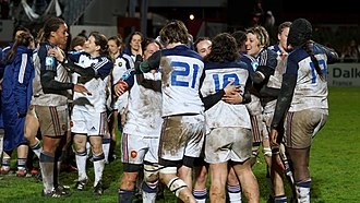 France women's national rugby union team - Image: 2014 W6N France vs Italy 6085
