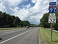 2016-08-12 14 33 28 View north along Interstate 97 (Patuxent Freeway) just south of Farm Road in Crownsville, Anne Arundel County, Maryland.jpg