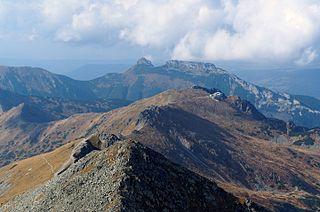 Kasprowy Wierch peak in the Western Tatras between Slovakia and Poland