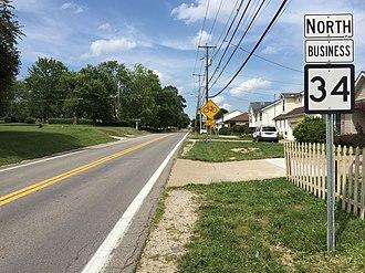 West Virginia Route 34 - WV 34 Bus. northbound in Hurricane