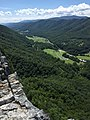2017-08-09 14 26 56 View south-southwest from the North Peak of Seneca Rocks, in Seneca Rocks, Pendleton County, West Virginia.jpg