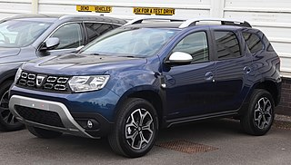 Dacia Duster compact sport utility vehicle produced by Renault and Dacia