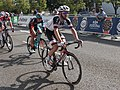 2018 Tour of Britain stage 1 183 Christopher Hamilton and 113 Matt Holmes.JPG