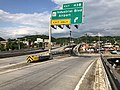 2019-05-17 17 27 34 View east along Interstate 68 and U.S. Route 40 and north along U.S. Route 220 (National Freeway) at Exit 43B (Maryland State Route 51-Industrial Boulevard, Airport) in Cumberland, Allegany County, Maryland.jpg