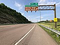 2019-05-17 18 07 39 View east along Interstate 68 and U.S. Route 40 (National Freeway) at Exit 50 (Pleasant Valley Road, Rocky Gap State Park) in Yonkers, Allegany County, Maryland.jpg