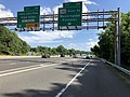 2019-05-27 16 19 59 View south along the outer loop of the Capital Beltway (Interstate 495) at Exit 39 (Maryland State Route 190-River Road, Washington, Potomac) on the edge of Bethesda and Potomac in Montgomery County, Maryland.jpg