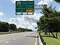 2020-08-04 16 06 09 View north along Maryland State Route 151 (North Point Boulevard) at the exit for Maryland State Route 150 EAST (Eastern Boulevard, Essex) in Dundalk, Baltimore County, Maryland.jpg