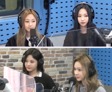 aespa at SBS Radio on December 9, 2020 From left to right, top row: Giselle, Karina From left to right, bottom row: Ningning, Winter