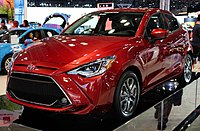 2020 Toyota Yaris XLE hatchback front NYIAS 2019.jpg