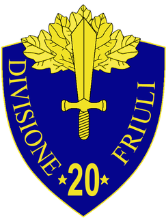 20th Infantry Division Friuli Infantry Division of the Italian Army