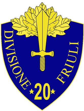 20th Infantry Division Friuli - 20th Infantry Division Friuli Insignia