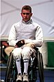 221000 - Wheelchair Fencing Michael Alston portrait 2 - 3b - Sydney 2000 photo.jpg