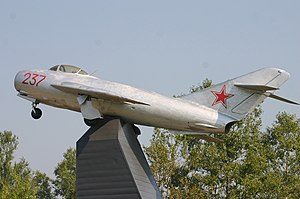 Gate guardian - Image: 237 RED Mikoyan Mig 17 Russian Airforce (7387568310)