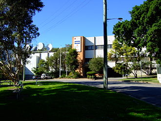 NBN Television - NBN's headquarters on Mosbri Crescent in Newcastle. As of 26 May 2007, administration and the studio are to the right and left respectively.