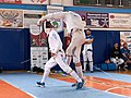 2nd Leonidas Pirgos Fencing Tournament. The fencers Matthew Baker and Vasilios Papadopoulos.jpg