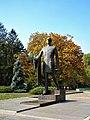 3. Bucuresti, Romania. Statuia lui Charles de Gaulle pe fundal de toamna. Oct. 2019.jpg