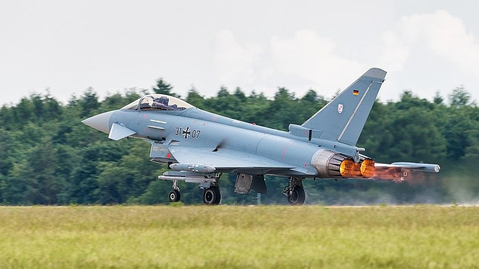 31%2B07 German Air Force Eurofighter Typhoon EF2000 ILA Berlin 2016 04