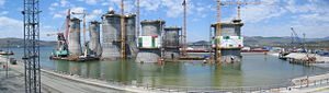 Vostochny Port - LUN-A and PA-B concrete GBS tow up.