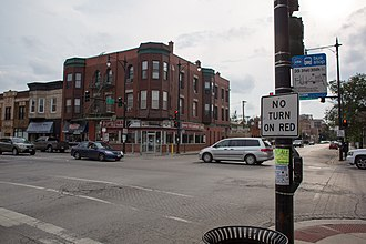 Bridgeport, Chicago - The intersection of West 35th Street and Halsted in Bridgeport.