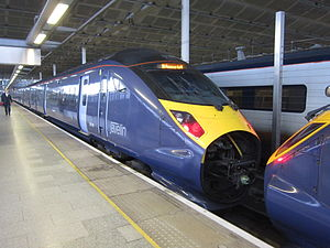British Rail Class 395 - The nose cone on a 395 is opened for coupling