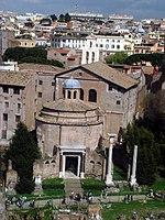 4309 - Roma - Fori - Tempio di Romolo - Foto Giovanni Dall'Orto - 17-Mar-2008.jpg