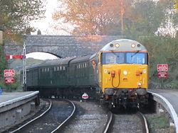 50026 arriving at Harmans Cross (7225293214).jpg