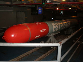 Type 53 torpedo - A 53-65K torpedo on display in the torpedo storage areas of the former Soviet aircraft carrier Minsk.