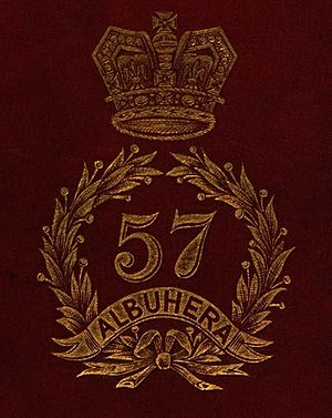57th (West Middlesex) Regiment of Foot - Badge of the 57th (West Middlesex) Regiment of Foot