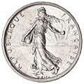 5 French francs Semeuse silver 1960 F340-4 obverse.jpg