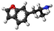 Ball-and-stick model of the 6-APB molecule