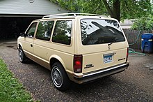 1985 plymouth voyager le rear