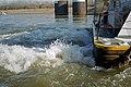 98k080 Stern of Michael J. Grainger upbound at L&I Bridge on Ohio River at Louisville (6559783161).jpg
