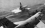 A-4C Skyhawk of VA-216 is launched from USS Hancock (CVA-19), in 1963.jpg